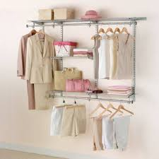 Tips Rubbermaid Closet Kit Lowes Shop Rubbermaid Homefree Series 4 Ft To 8 Ft Satin Nickel