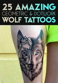 25 amazing geometric dotwork wolf tattoos tattooblend