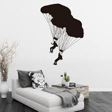 online get cheap large wall murals vinyl aliexpress com alibaba athletes with parachutes large wall murals home living room special decoative vinyl wall stickers art home bedroom decal w 494