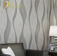 3d home decor design living room sofa white grey stripes wall paper 3d design modern home