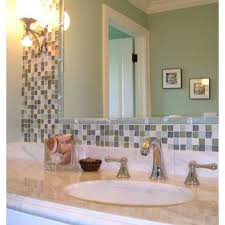 Bathroom Mirror Remodel by Chic Mosaic Tile Around Bathroom Mirror About Home Remodeling