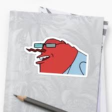 Mr Krabs Meme - mr krabs hannibal buress meme stickers by upthecreek90 redbubble