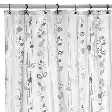 Bath And Beyond Shower Curtains Ivy Silver Vinyl Shower Curtain Bed Bath U0026 Beyond