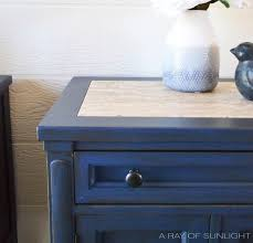 Vintage Nightstands The Antique Blue Nightstand Makeover A Ray Of Sunlight