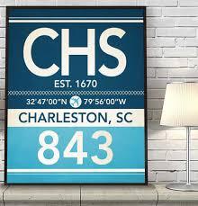 charleston south carolina vintage airport area code map