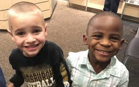white boy asks for same haircut as black friend to confuse his