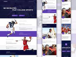 landing page template for sports app free sketch app resources