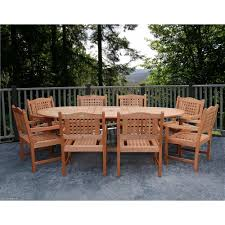 8 Seat Patio Dining Set - amazonia milano grand porto 9 piece extendable patio dining set bt