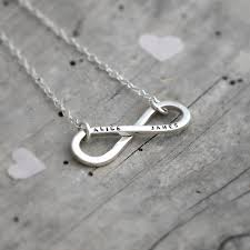 infinity necklace with name personalised infinity necklace words your and bespoke