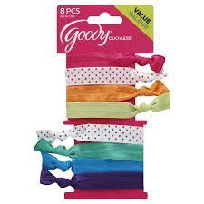 goody hair products goody ouchless polka dot ribbon elastics 8 pcs