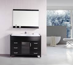 bathroom white bathroom vanity with some drawers by