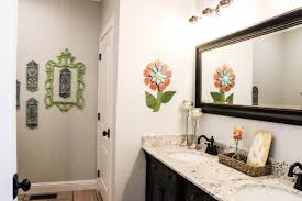 budget bathroom makeover adding colorful accents re fabbed