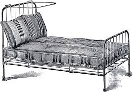 vintage iron bed image the graphics fairy
