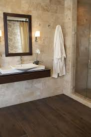 wood tile shower wall white vessel shape free standimg bathtub a
