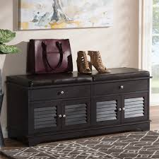 baxton studio leo modern and contemporary dark brown wood 2 drawer