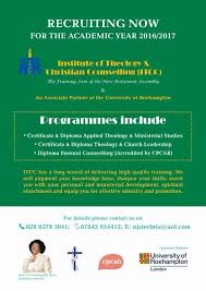 Cpcab Counselling Skills And Studies Institure Of Theology Christian Counselling Itcc The
