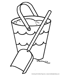 coloring pages pre k pre k coloring pages free printable beach sand bucket