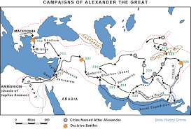 Ancient Greece On A World Map by Campaigns Of Alexander The Great Bible History Online