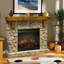 interior electric fireplace with stone surrounds which combined