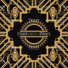 Art Deco Style Art Deco Style Geometric Card Template Design Stock Vector Art