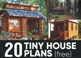 20 free diy tiny house plans natural building blog