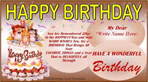 free birthday card templates lilbibby com