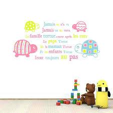 lettres pour chambre bébé lettres pour chambre bebe sticker mural au motif comptine tortues