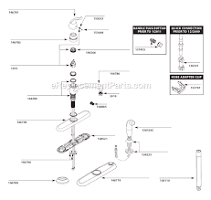 replacing single handle kitchen faucet moen 7423 parts list and diagram ereplacementparts