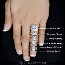 hand with rings images 2 ct diamond ring on hand rings jpg