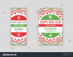 set vector happy new year merry stock vector 515374576