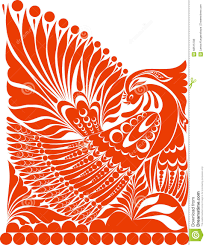 vector russian ornament folklore ornament withe bird stock vector