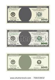 design template 100 dollars banknote bill stock vector 664707760