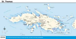 Map Of Charlotte Download Map Of Us Virgin Islands St Thomas Major Tourist
