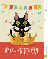 happy birthday to you happy birthday card with funny black cat