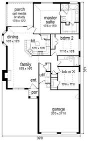 Two Bedroom House Plans by One Story House Plans 1500 Square Feet 2 Bedroom 1500 Sq Ft