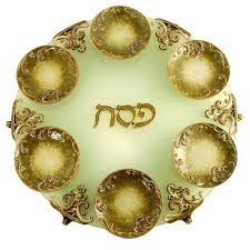 passover plate exodus passover seder plate gold or blue ahuva