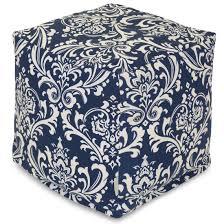 Pattern Ottoman Ottoman Navy Blue Ottoman Outdoor Ottomans Pattern Furniture