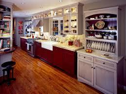 maple wood cordovan amesbury door one wall kitchen with island