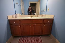 how to paint existing bathroom cabinets how to refinish a bathroom vanity bower power