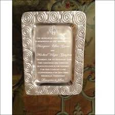 personalized tray silver tray engraved with wedding invitation as a wedding
