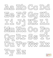 full alphabet worksheet capital and small letters coloring page