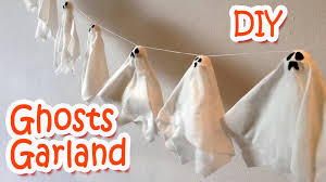 diy halloween decorations ghosts garland ana diy crafts