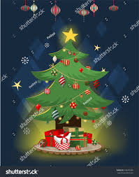 vector seasonal holiday illustration winter christmas gifts stock