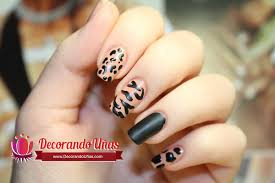 nail art animal print fácil video tutorial paso a paso http