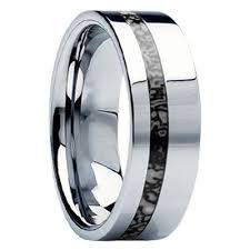 unique mens wedding band 8mm tungsten carbide with antler inlay c121m at mwb