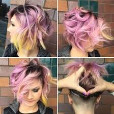 layered buzzed bob hair would love to do something like this not the cut but the shaved