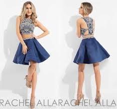 2017 rachel allan two piece homecoming dresses major beading jewel