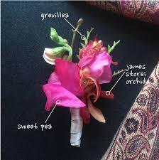 Orchid Boutonniere Sweet Pea U0026 Orchid Boutonniere Jen U0027s Blossoms Blog