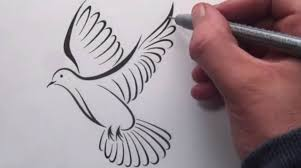 how to draw a tribal dove tattoo design youtube