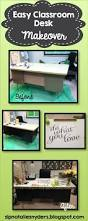 Teacher Desk Organization by Awesome Teacher Desk Makeover A Little Paint Contact Paper And